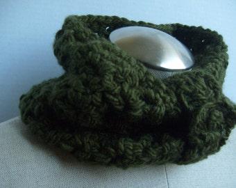 crochet green neckwarmer handmade-green cowl neckwarmer crochet- neckwarmer crochet handmade-soft handmade crochet neckwarmer
