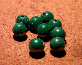 50 pearls iridescent - 8 mm - Green PE 287-30