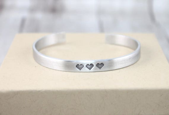 Pixel Heart Cuff, Personalized, Gamer Couple, Geek Couple, Gaming Family Gift, Gamer Jewelry