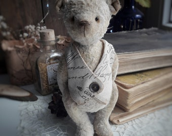 Teddy Bear, OOAK, stuffed jointed handmade toy, animal