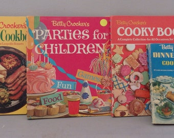 vintage Betty Crocker Cook Book Lot of 4 Mexican cooking Recipes Cooky Book Lot