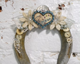Painted Cottage Prairie Chic Lucky You Horseshoe Art