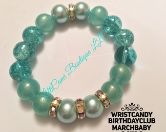 Birthday/March/Bracelet/Aquamarine