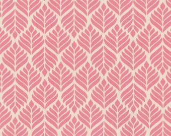 Toile cirée Trigo Au Maison motif épis de blé stylisés imprimé rouge corail pour confection nappes
