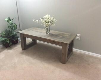 Rustic Driftwood Grey Coffee Table