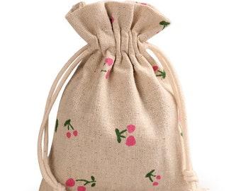 Vintage Gift Bags, Wedding Favor Drawstring Sacks, Party Gift Bags, Jute Bags,  gift bags, Burlap Bags, Burlap organza bags, 10pcs BAG-032
