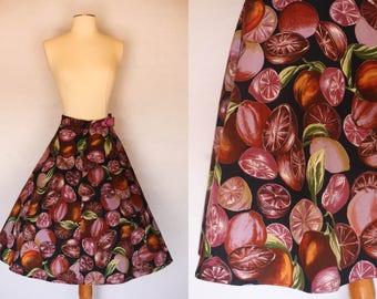 1970s skirt, 1950s novelty print skirt, 1950s style skirt, vintage novelty print skirt, 1970s novelty skirt, 1950s novelty dress, 1950s