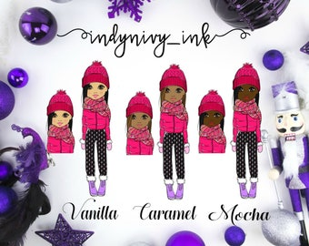 Baby It's Cold Outside (Pink) 2 Die Cut Pieces