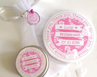 Personalised Bridesmaid Thank you Gift Set