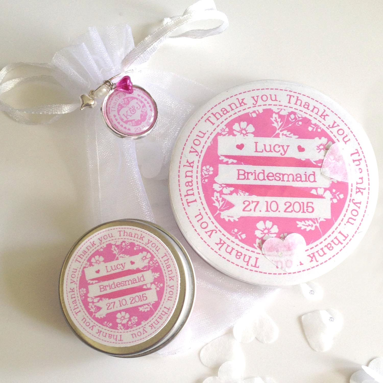 Personalised Bridesmaid Thank you Gift Set