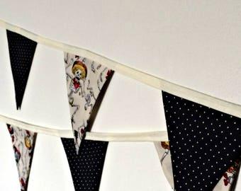 Day of the Dead (Dia de los Muertos) Fabric Bunting