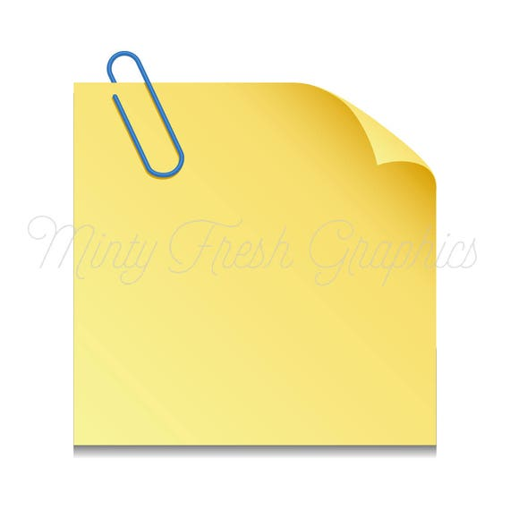 sticky note clipart planner clipart paper post it notes rh etsystudio com sticky note vector photoshop sticky note vector graphic
