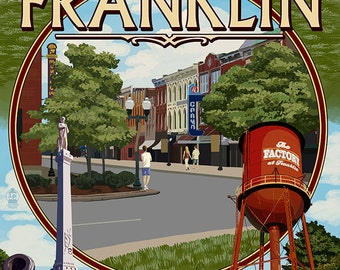 Franklin, Tennessee - Montage (Art Prints available in multiple sizes)