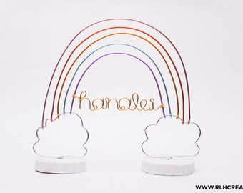 Personalized Rainbow Cake Topper / Rainbow Nursery Decor / Custom Rainbow Decor / Rainbow Baby Nursery Decor / Rainbow Birthday Cake Topper