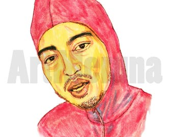 Pink Guy Face Portrait Filthy Frank Joji Digital Download Youtuber Affordable Art