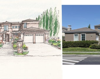 Custom Home Illustration