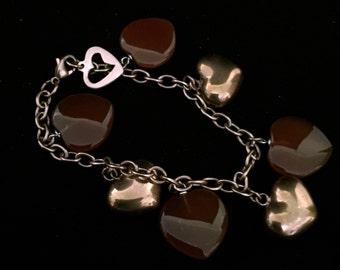 Copper and  Bead Charm Bracelet          VG2059