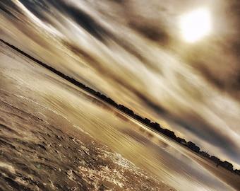 Golden Sunset - Wells Beach, Maine - Photography