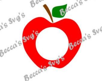 Apple, Monogram, Great Teacher Gift, Celebrate School, Teacher, Apple, Monogram