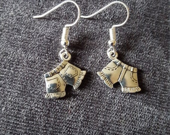 BOGO FREE! Artisan Handmade Solid Silver country girl shorts earring