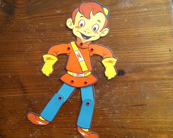 Big Jon and Sparkie Move-able Paper Doll 1950's