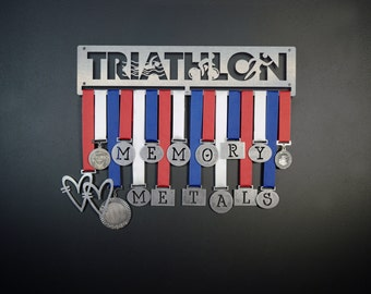 Triathlon Medal Display, Medal Holder