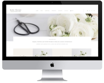 Feminine Wordpress Theme Kate / Portfolio Theme / Genesis Child Theme / Woocomerce Theme / Photography Theme / Mint Black