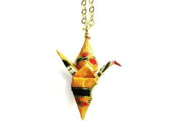 Origami Crane Necklace Orange Sky Paper Crane Necklace
