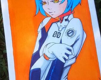 Evangelion fan art: Rei