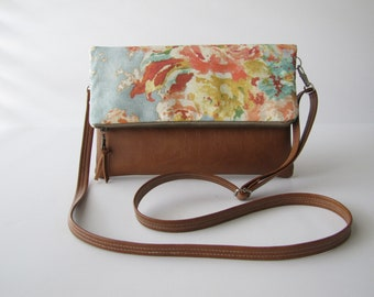 Fold Over Crossbody Bag, Foldover Bag with Adjustable Strap, Vegan Crossbody Purse, Fold Over Clutch with Crossbody Strap, Mothers Day Gift