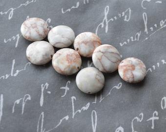 redline marble flat round 16mm