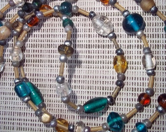 Beaded Necklace in Fall Colors