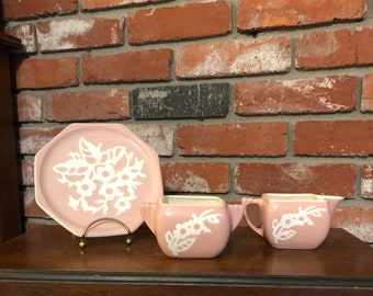 Assorted Pink Harker Cameoware Dishes