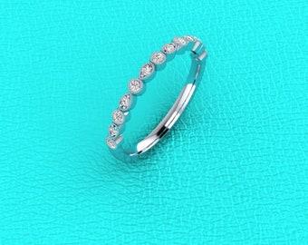 Platinum stackable diamond band