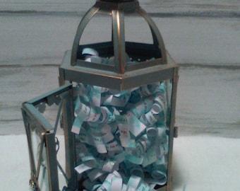 "Lantern, Pastor Gift, Metal & Glass With Crystals, Green Aqua Patina ""Growing up ME! Memory Compendium©"" Mary Lynn Savko RoadSideBoutique"
