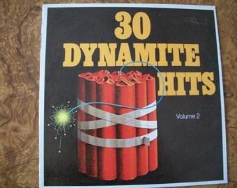 30 Dynamite Hits, Volume 2, Vinyl LP Album, 1973, Nanas Vintage Shop on Etsy
