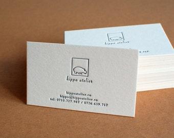 250 Custom Letterpress Business Cards
