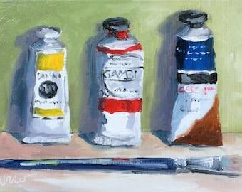 Oil Paint Tubes, Paint Tubes, Primarily Painting, Oil Painting, Original Art, Daily Painter, Daily Painting, Art