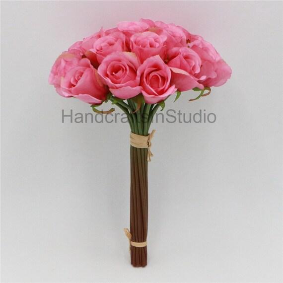 Silk Rose Bouquet For Bridesmaids Artificial Flower Bouquets