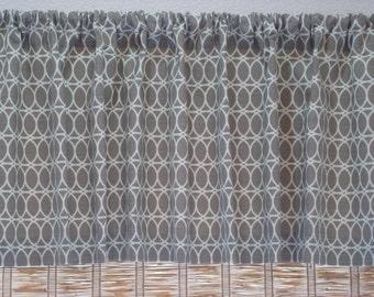 LAST ONE Grey Curtain HGTV Curl Up Slub Curtain Kitchen Valance KitchenCurtain 52x16