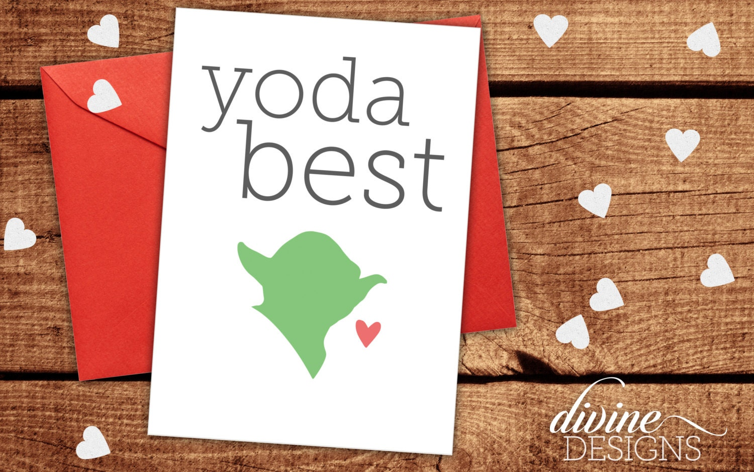 Yoda best star wars card funny valentines day card funny