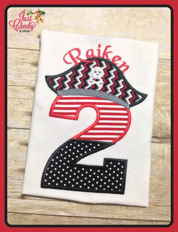 Pirate Hat Split Number Birthday Shirt