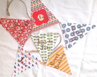 Garland vintage customizable Scandinavian motifs