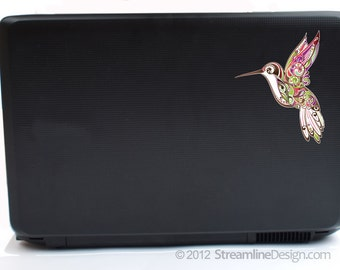 Ornate Hummingbird Laptop Decal | macbook decal car decal iphone decal hummingbird sticker hummingbird decal yeti decal laptop sticker birds