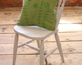 Handmade Screen Printed Bumble Bee Cushion