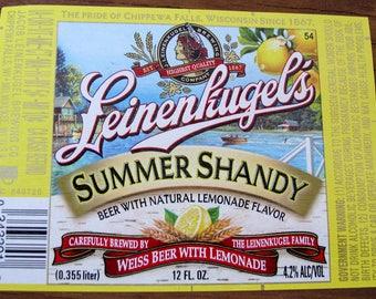 Beer Labels - Leinenkugel's Summer Shandy
