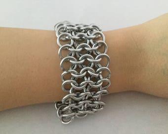 Adjustable Aluminium Chainmail Wrist Cuff