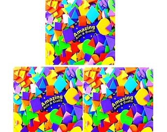 300 Self adhesive Sticky Craft Foam craft shapes assorted colours