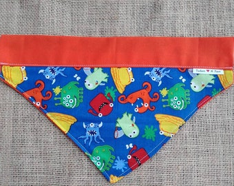 Little Monsters Double Sided Collar Style Dog Bandana