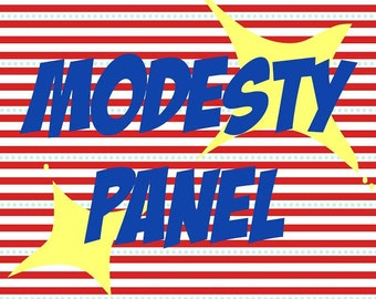 MODESTY PANEL for Corsets